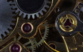 Picture macro, time, metal, watch, mechanism, gear