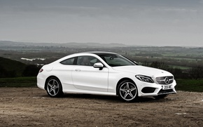 Wallpaper white, Mercedes-Benz, Mercedes, AMG, Coupe, C-Class, C205