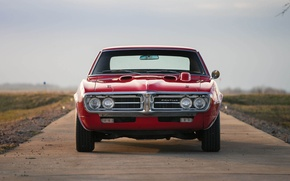 Picture red, Pontiac, 1967, american, musclecar, firebird, 400