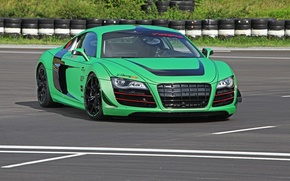 Picture road, auto, machine, audi, tuning, tires, racing one