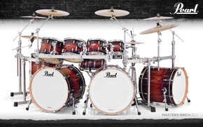 Picture frame, drum set, Shock, Pearl Masters