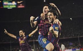 Picture Football, football, Fabregas, soccer, Camp Nou, Messi, Xavi, FC Barcelona