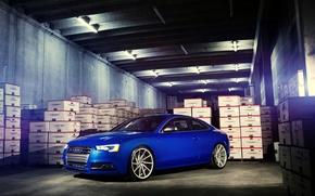 Picture Audi, wheels, blue, vossen