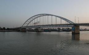 Picture bridge, khorramshahr, B&w