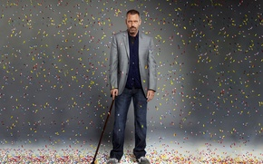 Wallpaper Hugh Laurie, House M.D., pills