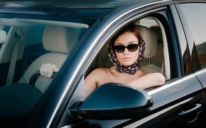 Picture machine, girl, retro style, Glamour driver