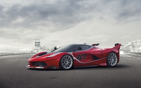 Picture background, Ferrari, Ferrari, supercar, the front, FXX K