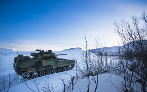 Picture CV9030 INFANTRY FIGHTING VEHICLES, snow, Norway, winter