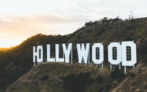 Picture Hollywood, USA, United States, sign, Los Angeles, California, mountain, hill, America, United States of Ameica