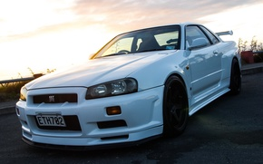 Picture Nissan, GT-R, White, Skyline, R34