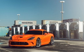 Picture Dodge, Orange, Viper, SRT, Track, Spec, ADV06