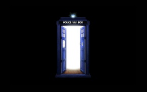 Picture booth, black background, Doctor Who, Doctor Who, The TARDIS, TARDIS