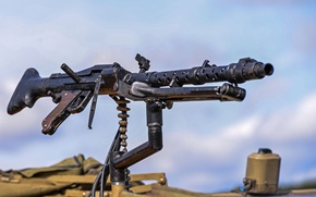 Picture machine gun, German, single, MG-34