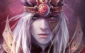 Wallpaper eyes, figure, Portrait