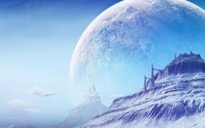 Picture space, landscape, planet, space