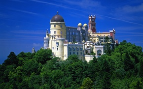 Wallpaper tower, nature, Beautiful, The Palacio Da Pena, Portugal, trees, The Pena National Palace, Portugal, castle, ...