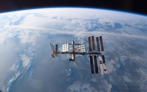 Picture space, planet, Earth, ISS, Union