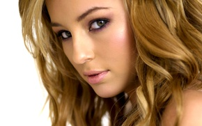 Picture look, face, blonde, Keeley Hazell