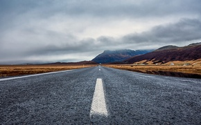 Picture the storm, clouds, mountains, grey, home, Iceland, Ring road
