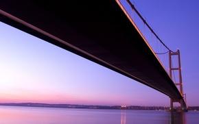 Picture lights, river, Bridge