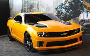 Picture transformers, 2012, Chevrolet, camaro, chevrolet, tuning, dark of the moon, transformers, bumblebee, Camaro