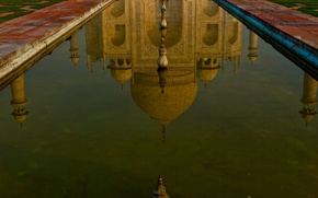 Picture water, reflection, India, Taj Mahal, the mausoleum, Agra
