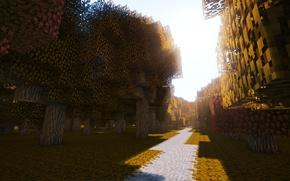 Picture wallpaper, game, autumn, Minecraft