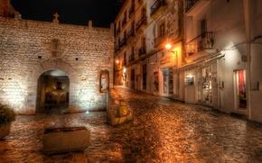 Picture night, lights, Spain, Ibiza, Night, spain, Ibiza