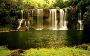 Picture forest, water, nature, waterfall, nature, waterfall