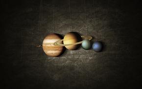 Picture system, planet, Mars, Earth, Saturn, Jupiter, Neptune, Mercury, Venus, solar, Uranium, on a string, map