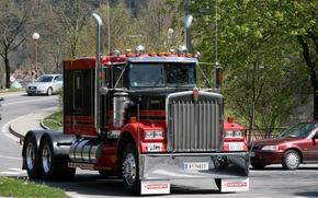 Picture Red, Power, Black, Truck, Other technics, Kenworth Truck