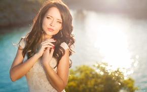 Picture girl, joy, sweetheart, tenderness, brunette, beautiful, the beauty, beauty, Ukrainian, Angelina Petrova