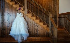 Picture dress, ladder, wedding