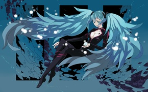 Picture girl, notes, art, figures, tattoo, vocaloid, hatsune miku, Vocaloid, irisssy