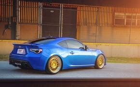 Picture Subaru, blue, blue, Subaru, brz