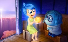 Picture cinema, girl, sad, dress, blue, smile, sadness, movie, ball, glasses, film, joy, adventure, official wallpaper, …