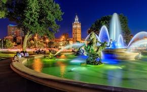 Picture area, fountain, Missouri, sculpture, Kansas City, Missouri, Kansas City, Country Club Plaza, JC Nichols Memorial …