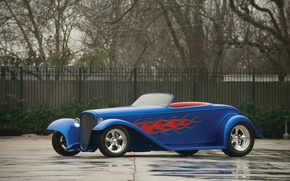 Picture asphalt, flame, Ford, Hot Rod, Hot Rod, 1932 Ford, Boydster II by Boyd Coddington