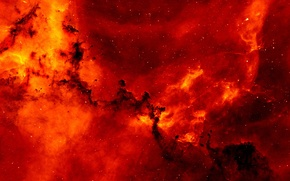 Picture Red, Clouds, Star, Space, Galaxy, Nebula, Cosmos