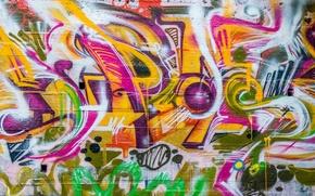 Picture wall, texture, grafiti