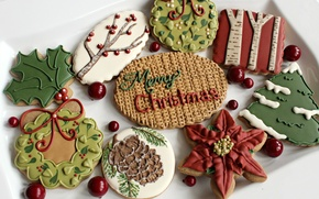 Picture mood, holiday, new year, cookies, sweets, Christmas, New Year, treat