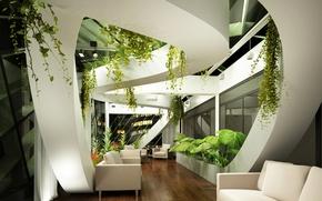 Picture sofa, interior, plants, design