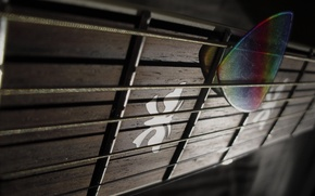 Picture Macro, Guitar, Grif, The mediator, Frets, Strings