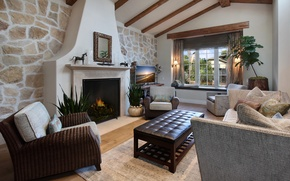 Picture design, photo, table, interior, chair, fireplace, living room