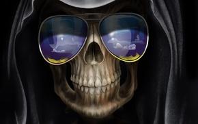 Picture death, Skull, glasses