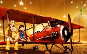 Picture cartoon, Fox, the little Prince, Aviator, the little prince