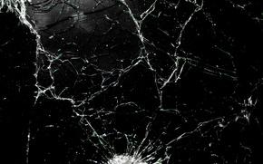 Picture texture, shot, bullets, glass, broken