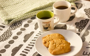 Wallpaper vanilla coffee, white choc chips, cookies with pistachios