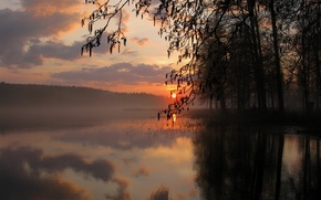 Picture sunset, lake, Nature, nature, lake, sunset