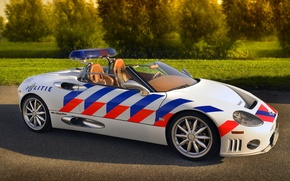 Picture convertible, police, Spyder, Spyker, politie